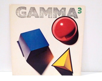 Gamma 3 Poster 1982 Vintage Ronnie Montrose Band 1980s Record Store Display Cardboard Flat / Poster Elektra Records Mohawk Music
