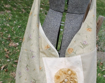 shabby chic hobo purse