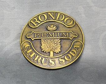 Vintage 70s Rondo Soda Brass Belt Buckle