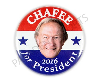 "2016 LINCOLN CHAFEE for PRESIDENT Campaign Button, 2.25"" Diameter lcsd"
