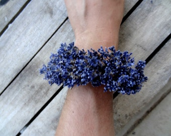 Dried Lavender Bracelet Corsage For Brides And For Bridesmaids - Weddings - Wedding Accessories