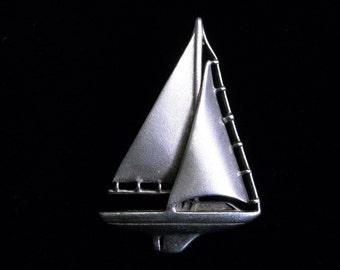 Sterling high detail designer Sailboat pendant #0146