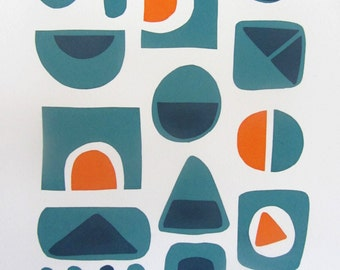 Geometric Screen Print