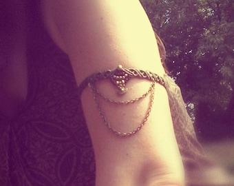 Boho Macrame Armlet Anklet  goddess festival tribal hippie goa victorian armband gypsy summer makramee bodyjewelry