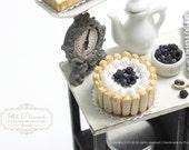 Wild Bluberry-Blackberry Charlotte Cake in 1/12th miniature dollhouse Cake