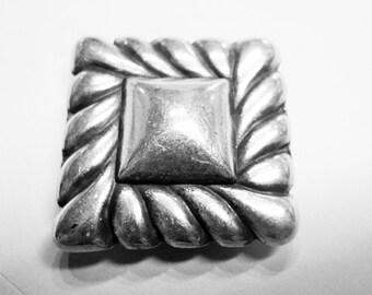 SALE:  1 Large Framed Square Slider, 13mm Flat Leather or Multistrand Round Leather Bracelets,