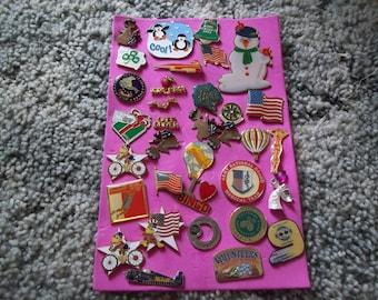 A Nice Lot of vintage Lapel Pins---Lot 6