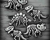 Jurassic Dinosaur Fossil Birthday Decorated Sugar Cookies