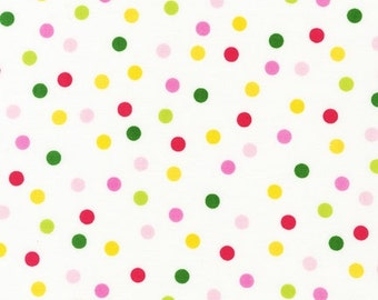 Garden Dot Fabric - Remix by Ann Kelle from Robert Kaufman. Hot pink, yellow, lime and green. 100% cotton. AAK-12136-238