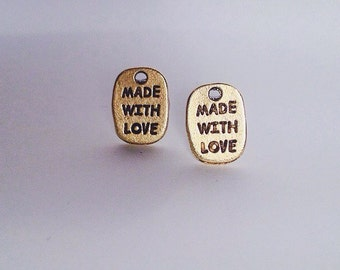 Made With Love (Gold) Pendent Earrings