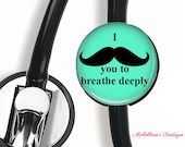 Stethoscope ID tag, Monogram Stethoscope Id Tag, Personalized Stethoscope Id tag, Name Stethoscope Tag, Respiratory, Mint