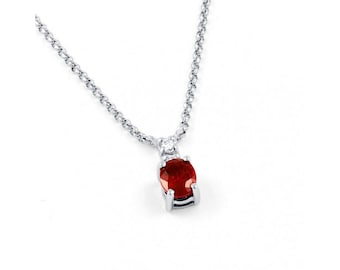 Ruby Pendant In White Gold