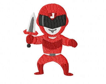 HERO OF JUSTICE - Red Hero of Justice ~ Filled Machine Embroidery Design to suit 4 x 4 hoop ~ Instant Download ~