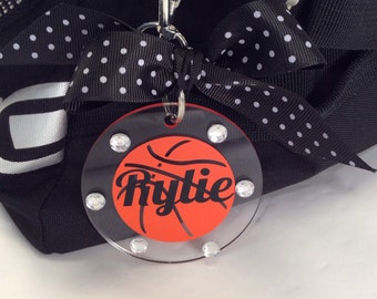Basketball Bag Tag, Personalized, Gifts for Basketball
