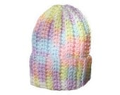 Rainbow Preemie Baby Hat - Crocheted Baby Hat