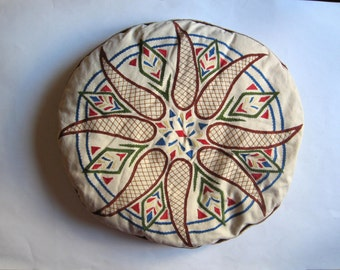 antique embroidery pillow