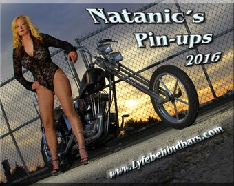 2016 Pin-up calendar featuring retro pin-up models on Vintage Motorcycles and Hot Rods