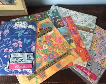 assorted vintage gift wrap/1970s