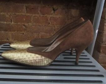 1950s Joseph Larose brown pumps | 50's 60's Mid Century MCM Glamour | size 6 | Francesca