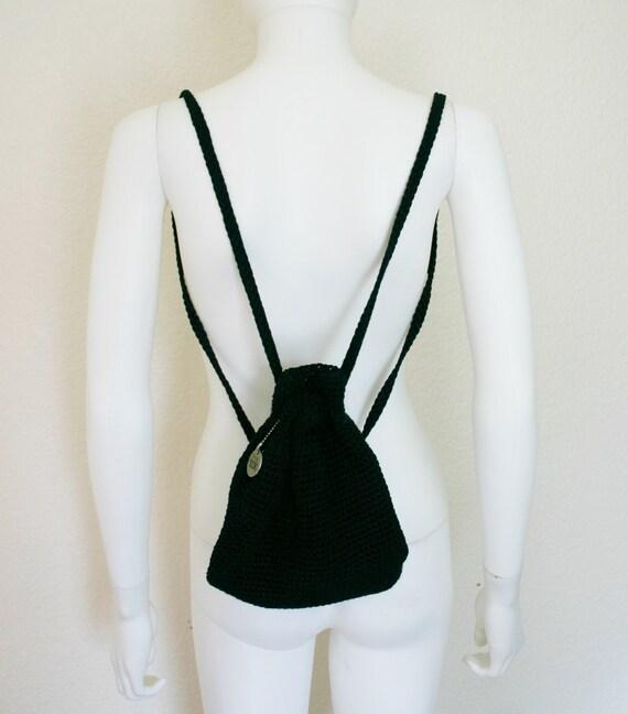 The Sak Black Crochet Handbag : The SAK Mini Backpack / Black Crochet Purse / by DEEEPWATERVINTAGE