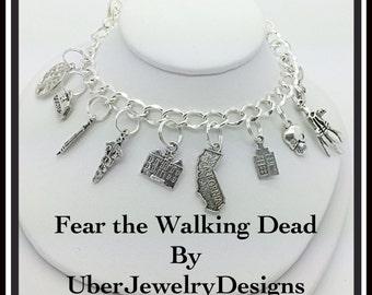 Walking Dead Fear the Walking Dead bracelet charm jewelry inspired by Uberjewelrydesigns