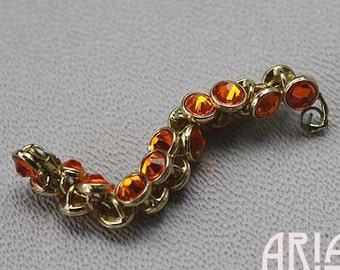 SUN: Crystaletts 3mm Sunl Swarovski Crystal Gold Plated Buttons (20)
