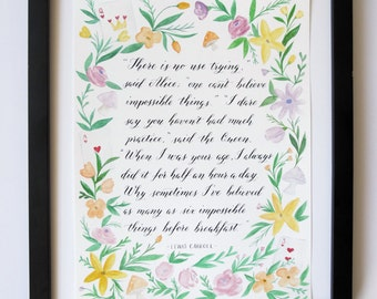 9x12 Custom Calligraphy Quote/Words/Lyrics | Illustration | Personalized Keepsake, Wedding Gift, Wedding Vows, Anniversary | Handwritten