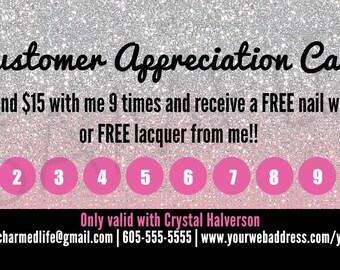 Jamberry Inspired Customer Hostess Appreciation Cards