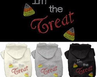 I'm the Treat - Rhinestone Hoodies, Sweatshirt, Jacket for Dogs or Cats, Halloween