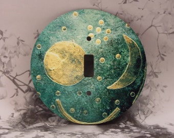 Round Moon Toggle Light Switch Covers - Moon and Stars