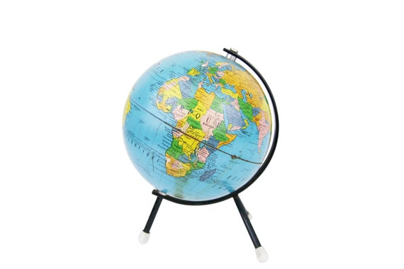 petit globe terrestre tripode 18 cm mappemonde cartes. Black Bedroom Furniture Sets. Home Design Ideas