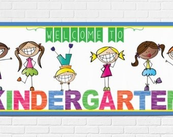 HAPPY KIDz - Banner / Large / WELCOME to Kindergarten