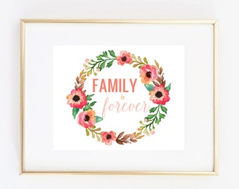 family is forever 8x10 art print instant download