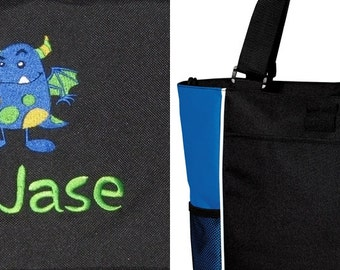 PERSONALIZED Monster Tote Bag diaper baby beach   New FREE SHIPPING