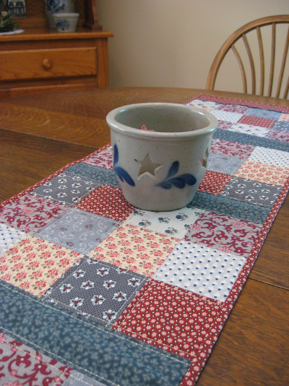 Quilted Table Runner Country Table Runner Quilted Patchwork