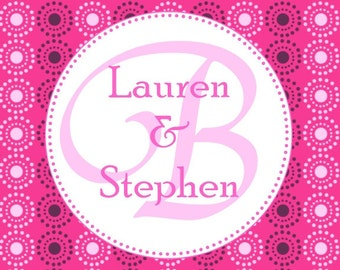 60 Pink Wedding Personalized Favor Tags