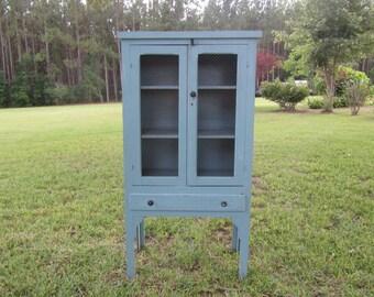 Antique pie safe,vintage kitchen cabinet,hutch,China cabinet,wood cabinet,folding cabinet,sharecropper cabinet,
