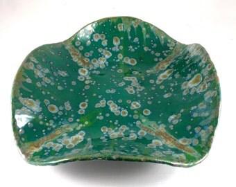 Serving bowl Multiglaze STONEWARE Wedding Present  food safe & lead free glaze   Made to oder