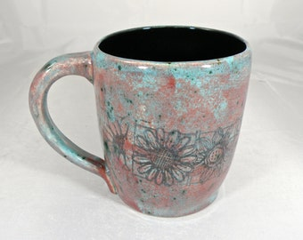 Extra Large mug , 28 oz mug  tea mug  beer mug Stoneware food safe lead free Glaze Made to order