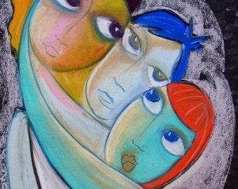 Group Hug- Limited Edition Print- signed and numbered by Samantha Thompson