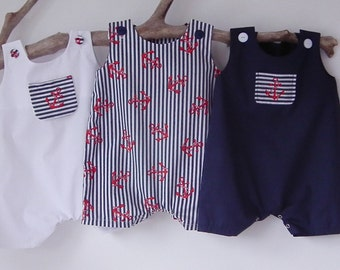Newborn Baby Boy Clothes Nautical Newborn Rompers Summer Anchor Sunsuit Baby Shower Coming Home Outfit Bringing Baby Home Newborn-18 months