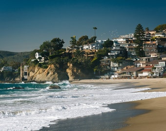 Victoria Beach, in Laguna Beach, California - Photography Fine Art Print or Wrapped Canvas