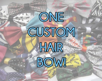 One Custom Clip-In Hair Bow, Made to Order