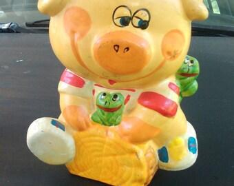 1980s Cute Childs Piggy Bank