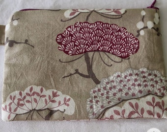 Cherry Tree Cotton Pouch Wallet