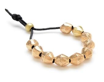 Heavy Brass Beaded Bracelet