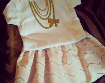 Pink and Gold Girls set