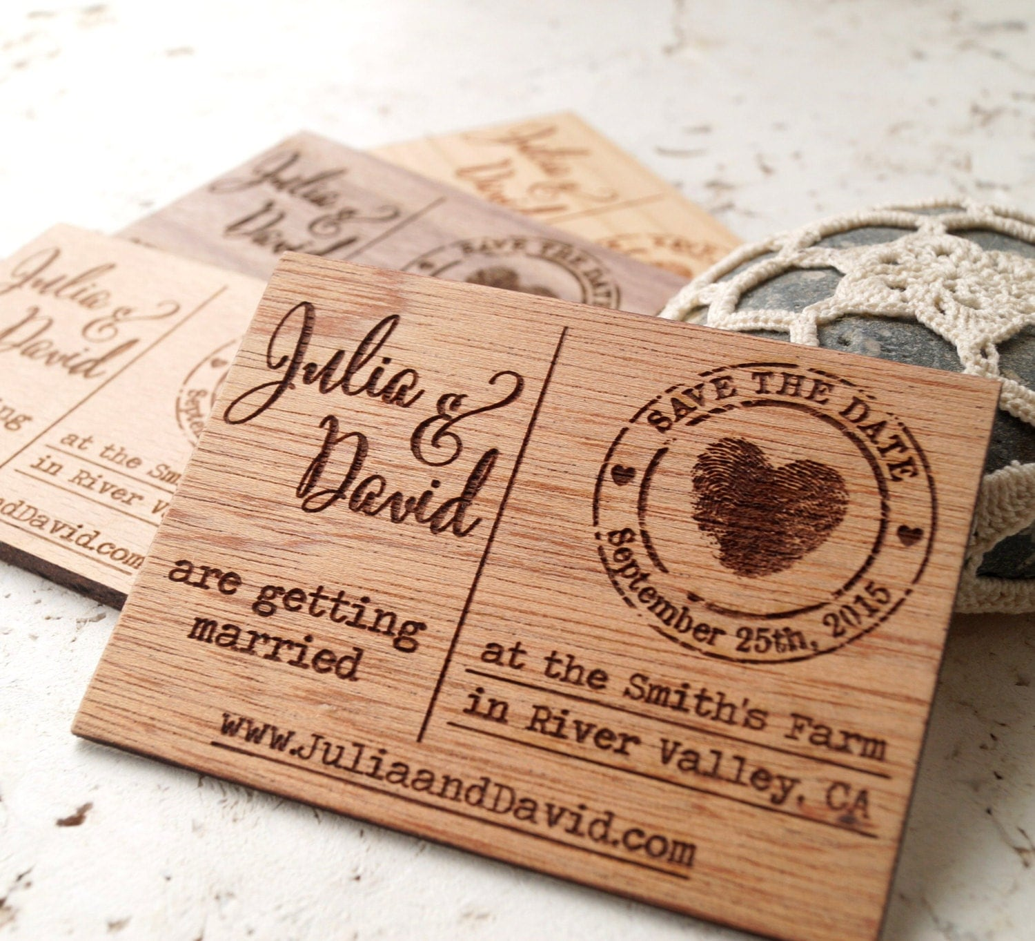 Wedding Save The Date Magnets: Save The Date Magnets Rustic Wedding Save The Dates Wooden