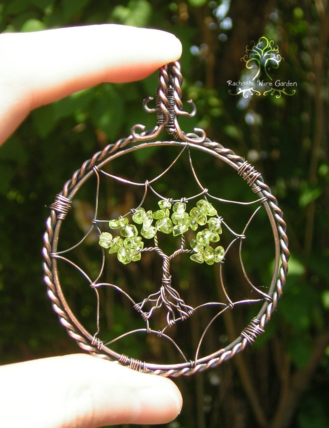 dreamcatcher tree of life wire wrapped pendant jewelry