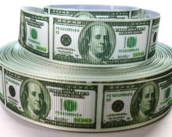 """1"""" Money Grosgrain Ribbon"""
